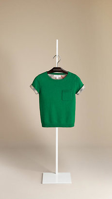 Burberry Knitted Cashmere Cotton T-Shirt