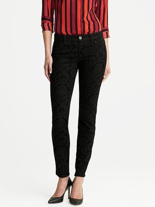 L'Wren Scott Collection Brocade Skinny Ankle Jean