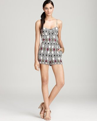 Twelfth St. By Cynthia Vincent by Cynthia Vincent Sleeveless Printed Bra Cup Romper