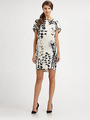 Josie Natori Silk Printed Dress