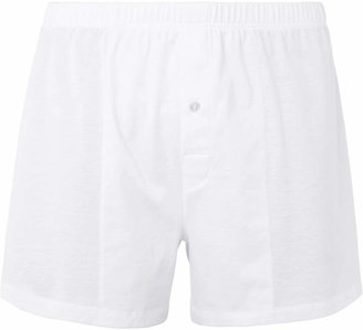Hanro Sporty Mercerised Cotton Boxer Shorts $70 thestylecure.com