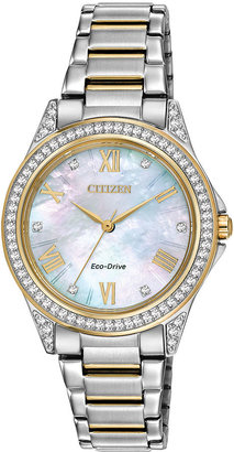 DRIVE FROM CITIZEN ECO-DRIVE Drive from Citizen Eco-Drive Womens Crystal-Accent Watch $187.50 thestylecure.com