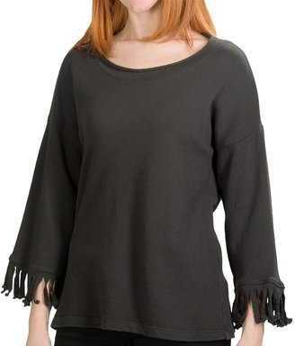 dylan French Terry Fringed Shirt (For Women)