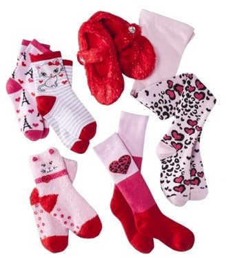 Xhilaration Girls' Sock/Tight Set - Pink