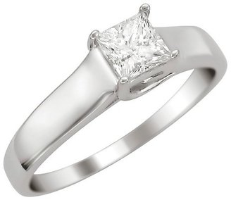 Diamond 1/3 CT.T.W. Certified Solitaire Ring in 14K White Gold - In Assorted Sizes