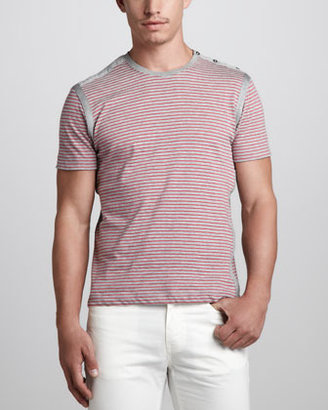 Versace Striped Jersey Tee