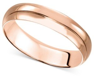 Macy's 14k Rose Gold Ring, 4mm Wedding Band