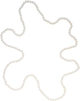 A B Davis Freshwater Pearl Long Knotted Rope Necklace