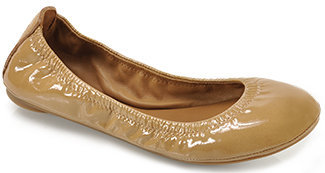 Tory Burch Eddie - Tan Patent Leather Ballet Flat