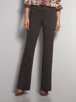 New York & Co. The 7th Avenue Bootcut Ponte Pull-On Pant - Dark Brown - Tall