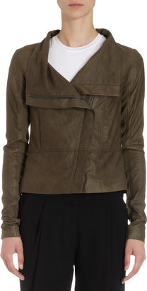 Vince Ultra Soft Leather Funnel Neck Jacket