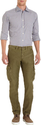 Incotex Red Slim Fit Cargo Trousers