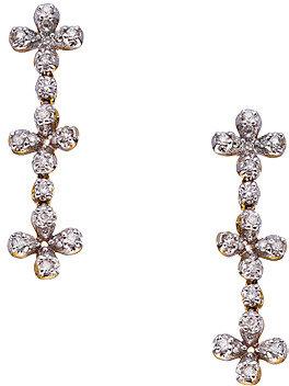 Topten Diamond Floral Drop Earrings