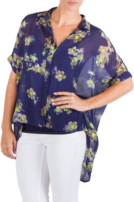 Jessica Simpson Kukui Oversized Shirt Juniors