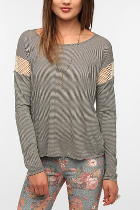 Urban Outfitters Daydreamer LA Mesh-Inset Boxy Tee