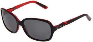 Oakley Obligation Polarized (Black/Red/Grey Polarized Lens) - Eyewear