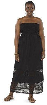 Women's Plus Size Strapless Maxi Swim Cover Up Dress-Pure Energy
