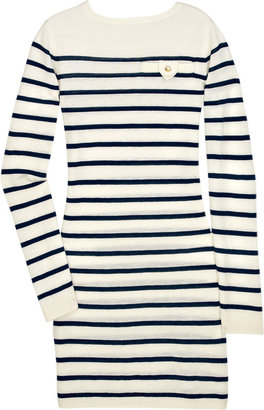 Crumpet Breton mini cashmere sweater dress