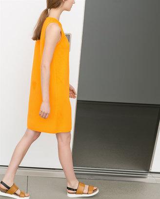 Zara Straight Cut Dress With Side Zip
