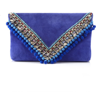 Matthew Williamson Cornflower Large Envelope Clutch