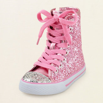 Children's Place Glitter hodgepodge hi-top