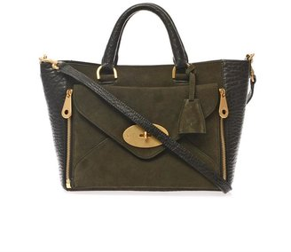 Mulberry Willow leather and suede tote