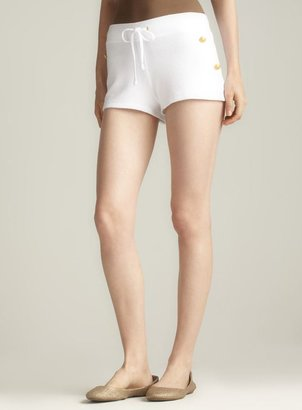 Juicy Couture Button Embellished Drawstring Terry Shorts