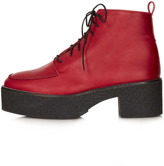 Topshop ARES Heavy Lace Up Boots