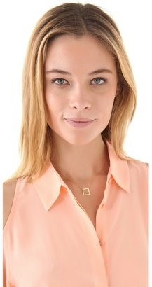 Jennifer Zeuner Jewelry Small Open Square Necklace