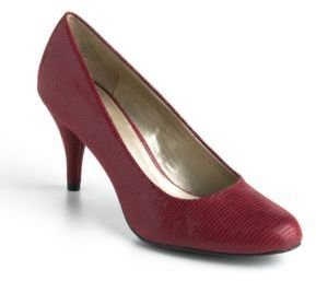 Bandolino Courteous Fabric-Covered Patent Pumps