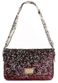 Dolce & Gabbana Sequin Beaded Chain Shoulder Bag