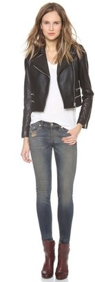 Rag and Bone Rag & Bone Hudson Leather Moto Jacket