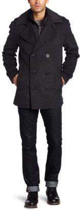Marc New York Men's Holbrook Wool Herringbone Peacoat