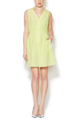 Shoshanna Isabel Silk V-Neck Dress
