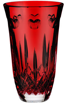 "Waterford I Love Lismore"" Red 8"" Vase"