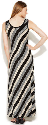 Calvin Klein Sleeveless Striped Maxi Dress