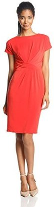 Anne Klein Women's Cap Sleeve Asymmetric Sheath Dress