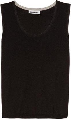 Jil Sander Fine-knit cashmere and silk-blend top