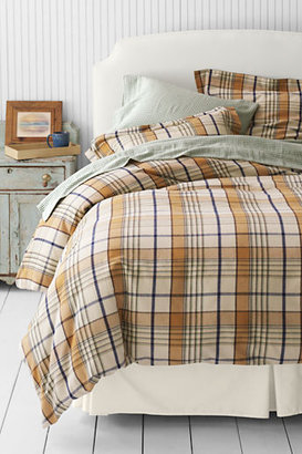 Lands' End 6-oz Flannel Oak Park Plaid Duvet Cover