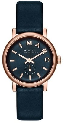 Women's Marc By Marc Jacobs 'Baker' Leather Strap Watch, 28Mm $195 thestylecure.com