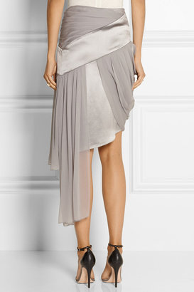 Prabal Gurung Silk-chiffon and satin mini skirt