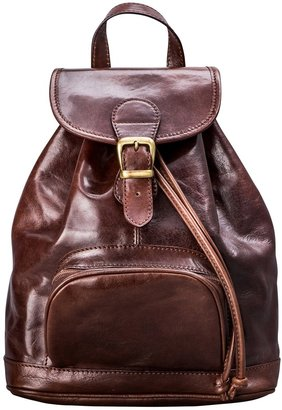 Maxwell Scott Bags Maxwell Scott Womens Handcrafted Leather Backpack - Sparano Brown