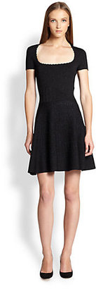 Torn By Ronny Kobo Vivienne Metallic-Weave Sweater Dress