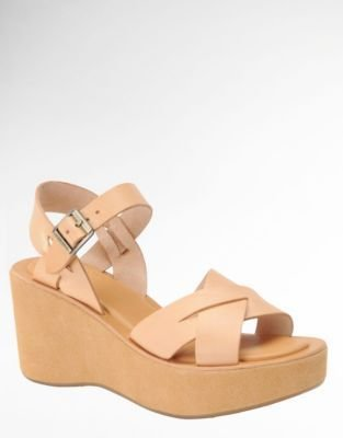 Kork-Ease Ava Leather Wedge Sandals