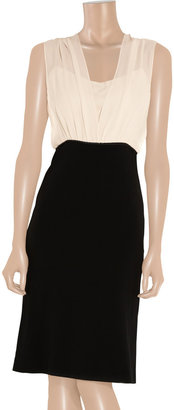Narciso Rodriguez Silk-chiffon and crepe dress