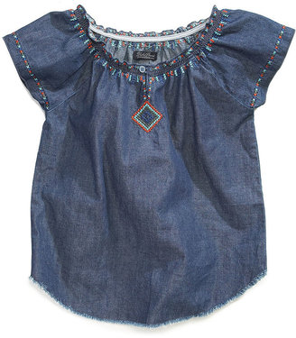 Lucky Brand Kids Top, Girls Embroidered Peasant