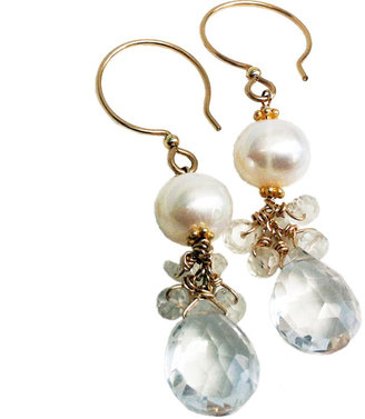Amy DiGregorio Parker Street Earrings in Pearl/Gold