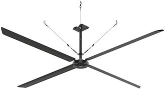 Hunter Industrial Eco 16 ft. 72514-220-Volt Single Pole Indoor Black Anodized Aluminum Ceiling Fan