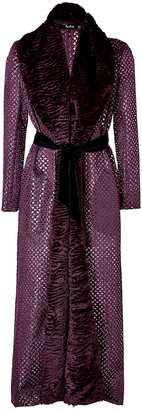 Marios Schwab Long Coat in Burgundy