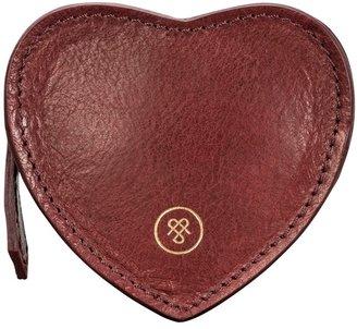 Maxwell Scott Bags Maxwell Scott Womens Leather Heart Coin Purse - Mirabella Wine
